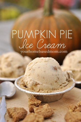 Pumpkin Pie Ice Cream for Your Home Based Mom