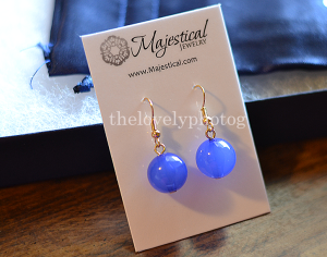 Matching Blue Fashion Earrings from Majestical Jewelry